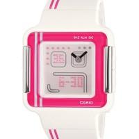 jam tangan casio lcf21-4 wanita poptone pink karet analog digital ori