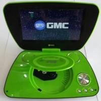"""GMC DIVX-808U-TV 9"""" Portable DVD Player - Hijau"""