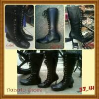 Sepatu Boot Jenggel Wanita Sebetis / Nabato Shoes