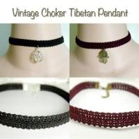 Jual Vintage Choker Tibatan Pendant Murah