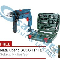 BOSCH GSB 550 Mesin Bor Tembok + 108 In 1 BOSCH Tool Kit