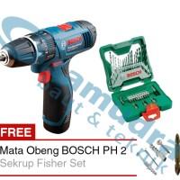 Mesin Bor Cordless BOSCH GSB 1080-2-LI + BOSCH 33-piece X-Line Set