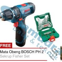 Mesin Bor Cordless BOSCH GSR 1080-2-LI + BOSCH 33-piece X-Line Set