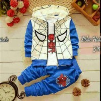 Set Hodie Spider Kid 3in1 / Setelan Baju Anak Laki-laki MurahBagus Murah