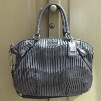 Authentic COACH Madison Gathered Leather Satchel Bag