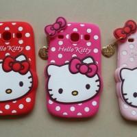 Silicon Samsung Galaxy CORE i8260 3D timbul Hello Kitty