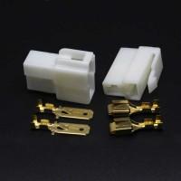 Soket Jek Colokan / Socket Jack Konektor Kabel 2 Pin Besar Mobil Motor