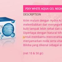 Moisturizer - Pixy - White Aqua Gel Cream Night Cream 18g (Dozen)