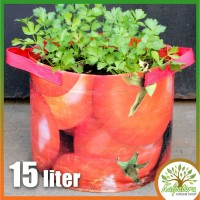 Pot Kantong Tanaman Sayur 15 Liter Motif Tomato /Vegetable Planter