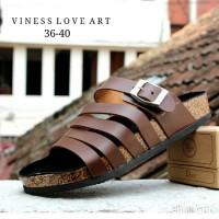 Sandal Wanita Casual / Sandal Wood / Sandal Vintage