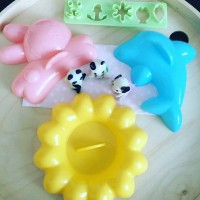 Bento set rabbit, dolphin, flower and decor set
