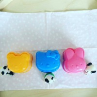 bento rice mold hello kitty and friends