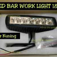 LED Bar 18w Sinar Kuning Warm White Lampu Tembak Sorot Fog Lamp LED