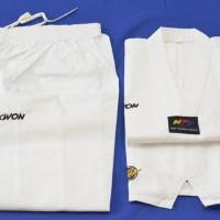 Baju Seragam Dobok Taekwondo Kerah Putih Kwon Victory Bukan Moks