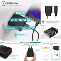 Aukey Quick Charge 3.0 18W Turbo Charger PA-T9 Cas-Casan Cepat Isi
