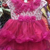 Dress Gaun Pesta Bayi / Anak - motif brukat susun tangan