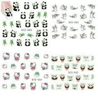 DIY water nail sticker, nail art, stiker kuku, design bunga, kartun