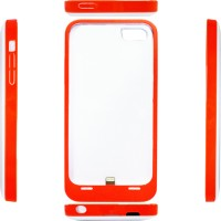 Rapid Power Bank Case Iphone For 5/5S/5C DF 204 - 2200mah -White/Red