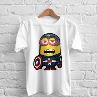 Kaos Oneck Captain America MINION Tshirt Distro clothing