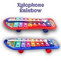 Mainan Edukatif Xylophone Rainbow / Alat Musik Pukul / Music