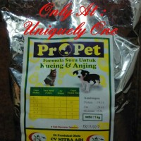 Jual SUSU ANJING & KUCING : PROPET MILK 1 KG FOR CAT & DOG / PETS ONLY Murah