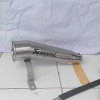 knalpot honda cbr 150 cc akrapovic megaphone