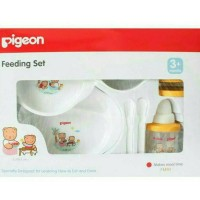 Jual Peralatan makan/Feeding Set bayi Pigeon + training cup BPA Free Murah