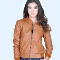 harga Jaket motor wanita cewek semi kulit garsel fs158 terbaru Tokopedia.com