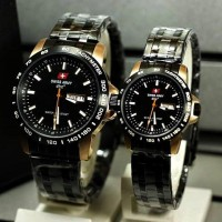 Swiss Army Couple Date Day Couple Black