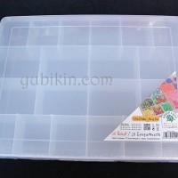 Kotak Manik Plastik 20 Sekat Bening 354x270x55mm