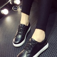 Sepatu Black plain import Kets fashion Shoes Korea Casual Wanita