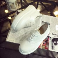 Sepatu Import Platform White Fashion Korea Wanita Casual Wedges Kets
