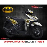 Decal Sticker Fullbody VARIO 150 White Batman MOTOBLAST