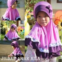Jual Jilbab Bergo Anak Praktis Cantik Lucu Aila 3-7 th Murah