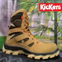 SEPATU BOOT KICKERS KOMBINASI ARMY SAFETY SHOES