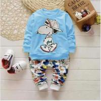 Grosir Pakaian Anak / Setelan Baju Anak Laki Laki / St Rbsnop Biru