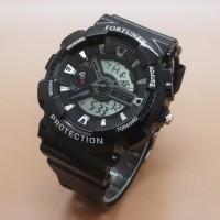 Jam Tangan Unisex Analog Fortuner FR1500 Original Rubber Black