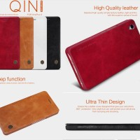 Nillkin Qin Leather Flip Book Cover Casing Case Sarung Kulit OnePlus X