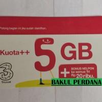 Voucher Isi Ulang Tri 5 GB + Pulsa 20.000 Reguler 24 Jam - Three 3 5GB