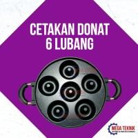 Cetakan Donat Maker Panggang Manual Kue Donut 6 Lubang Bonus Resep