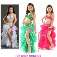 belly dance rok organza tari perut anak anak