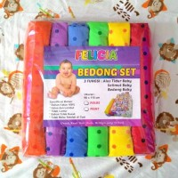 Jual Kain Bedong Bayi Felicia Bedong Set Rainbow Polkadot Murah