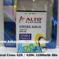 Baterai Battery Cross Evercoss A20 / A20g 3200mah Alto Double Power