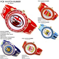 JAM TANGAN BOLA FOOTBALL CLUB RUBBER