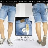 Celana Pull And Bear Pendek Soft Jeans Light Blue PNB 002 !