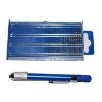 21 Pcs Mini Drill Set (0,3 - 1,6mm) LYK / Small Alumunium Hand Drill
