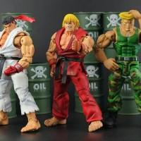 Neca Street Fighter Ryu + Ken+ Guile (7inc)