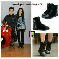 sepatu wanita sneaker wedges reva natasha wilona 12 premium