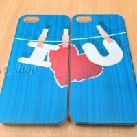 Iphone 5 / 5s Couple Case I Love U