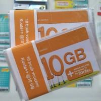 Voucher Three 10GB, Kuota Internet 3 data Tri 10 GB 24 Jam + Pulsa 20r